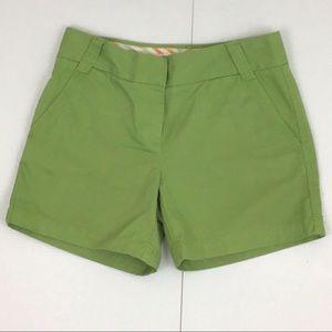 J. Crew Chino Green Classic Twill Shorts Size 0